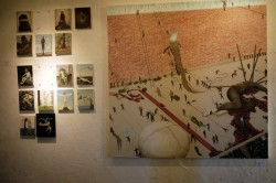 HATOS BAR 壁の絵