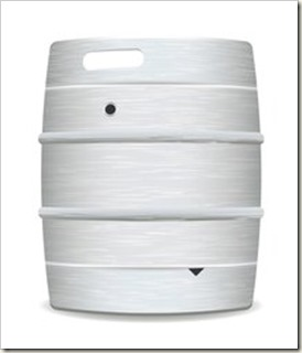 beer keg barrel pair